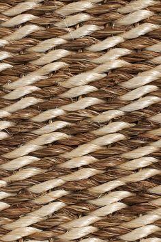 Windswept handwoven abaca rug, by Merida.