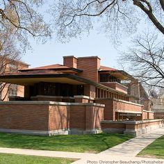 Chicago's Oak Park Neighborhood Boasts Many Homes Designed by Frank Lloyd Wright. Via T+L (www.travelandleisure.com).