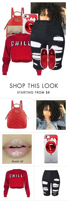 """Lets Chill"" by dmolett on Polyvore featuring Gucci, Fifth & Ninth and NIKE"