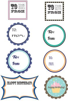 free birthday printable gift tags