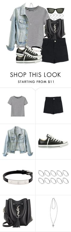 """""""Untitled #3423"""" by hellomissapple on Polyvore featuring Converse, Cartier, ASOS, Yves Saint Laurent, Ray-Ban, Givenchy, women's clothing, women's fashion, women and female"""