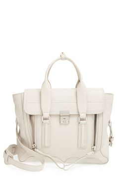 3.1 Phillip Lim 'Medium Pashli' Shark Embossed Leather Satchel | Nordstrom