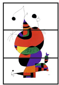I love this silly work of art by Joan Miro. Pablo Picasso Cubism, Joan Miro Paintings, 4th Grade Art, Ecole Art, Time Painting, Art Lessons Elementary, Art Festival, Art Plastique, Art Activities