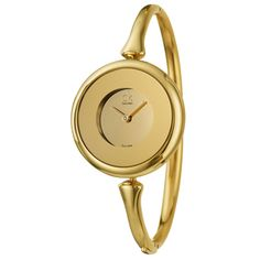 @Overstock - This stylish women's 'Sing' watch from Calvin Klein features a yellow gold-plated stainless steel case with a matching bangle bracelet. The gold dial sets the stage for goldtone hands for a clean and elegant style.http://www.overstock.com/Jewelry-Watches/Calvin-Klein-Womens-Gold-plated-Steel-Sing-Watch/7508927/product.html?CID=214117 $201.60