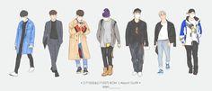 Funny Boy, Hanbin, Ikon, Got7, Bobby, Chibi, Sketches, Fan Art, Wallpapers