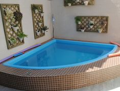 area de lazer com churrasqueira e piscina de fibra
