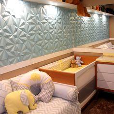 Revestimento Solis cor Caribe Metalizado! #suvinil #surfaces #revestimento #tile #concreto #interiordesign #instadecor #babyroomdecor #babydecor #walldecor #3d #quartodebebe #quartodemenino #Maski #cimenticio #design