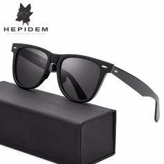 ab345ab2bf HEPIDEM Acetate Square Sunglasses Men Driving Mirrored for Women Brand  Designer New Rays Hot Polarized Sunglass 2140