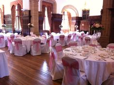 Soft #pink and #diamante accents to the #wedding breakfast at Woldingham School, Marden Park, #Surrey.
