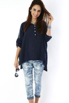 Eros Collection printemps/été 2015 #EROSCOLLECTION #PP15 #SS15 #blue #jeans #style #para