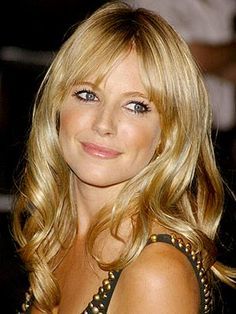 Sienna Miller, love the bangs but my hair has never cooperated.