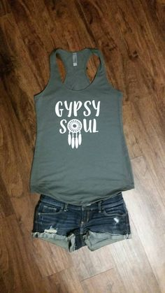 Gypsy Soul Dream Catcher Tank by JesusandGypsySoul on Etsy
