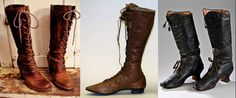Victorian boots, Met and private collections