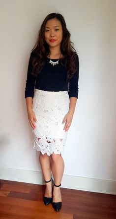 #OOTD features a fun white, floral skirt and some simple accessories!