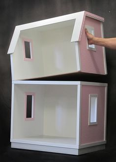 Buy both the My Dreamhouse dollhouse kit for 18 inch dolls and the Add A Room kit to expand into a two-story dreamhouse.  Just imagine the hours of creative play!  Kits are manufactured by Real Good Toys in the USA