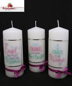 Kerze zum Muttertag 8,50€/Stk. #Muttertag #kerzezummuttertag #mamaistdiebeste Beste Mama, Pillar Candles, Mother's Day, Gifts, Ideas, Candles