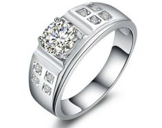 Men's Ct Round Diamond Solitaire Wedding Band Ring White Gold Over in Jewelry & Watches, Men's Jewelry, Rings Male Diamond Ring, Best Diamond, Diamond Rings, Diamond Jewelry, Engagement Ring For Him, Diamond Engagement Rings, Mens Diamond Wedding Bands, Wedding Ring Bands, Real Gold Jewelry