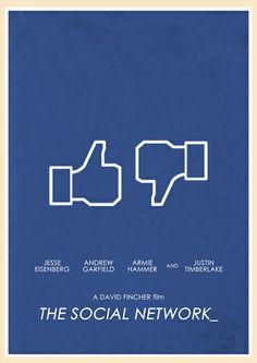 The Social Network (2010) - Minimal Movie Poster by Jon Glanville ~ #jonglanville #minimalmovieposters #alternativemovieposters