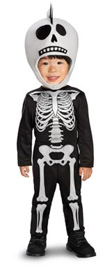 Skeleton Boy Costume - Toddler 3T-4T Check out http://skeletonoutfits.com