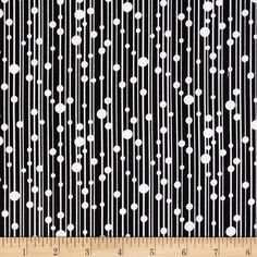 Jet Black Lines Black/White from @fabricdotcom  Designed for Exclusively Quilters, this cotton print fabric is perfect for quilting, apparel and home decor accents. Colors include black and white.