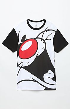 Looney Tunes Color Block T-Shirt Black And White T Shirts f8437f8a582