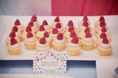 vanilla lemon mini cupcakes @Michelle Holladay Port