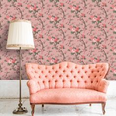 Ditsy Floral in Old Rose Wallpaper By Pearl Lowe Exclusive to Woodchip & Magnolia Pale Pink Wallpaper, Stag Wallpaper, Lowes Wallpaper, Black Floral Wallpaper, Brick Effect Wallpaper, Unique Wallpaper, Sunset Wallpaper, Wallpaper Samples, Pearl Lowe