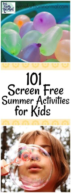 Want your kids to have a ton of fun this summer? Take a look at these screen free summer activities sure to keep them busy and having a blast all summer!