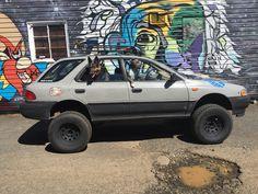Franken Subaru in urban camo