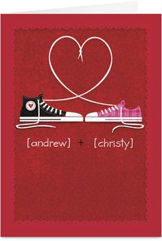 Converse Lace Love Valentine Card