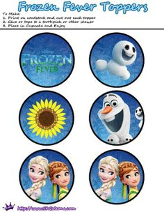 Cupcake toppers | Frozen Fever Free Printables and Crafts | SKGaleana