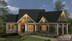 Mill Spring Ctg. House Plan, 11115,  Front Elevation, Craftsman Style House Plans, Mountain Style House Plans