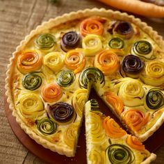 Tart Recipes, Appetizer Recipes, Baking Recipes, Vegetable Dishes, Vegetable Recipes, Vegetarian Roast, Bread Shaping, Creative Food, Food Presentation