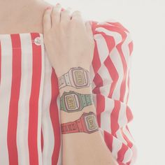 TATTLY, Designy Temporary Tattoos - Famous watches