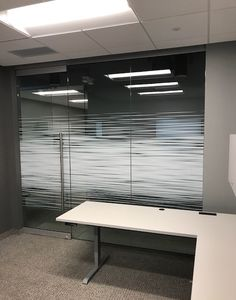 Check out this install of our Dual Motion Gradient custom for a client in Valley View, Ohio! Glass Film Design, Frosted Glass Design, Office Interior Design, Office Interiors, Marble Room, Wall Design, Design Design, Glass Printing, Window Film