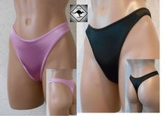 cdb11b92e7ca Details about Ladies Shiny Satin G-String Thong. Black, Pink or Gold. Sexy  High Cut. Size 10