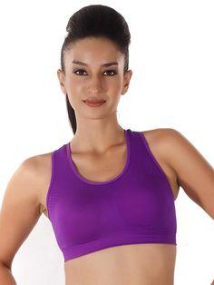 0379a90933689 Shyle Purple Lightly Padded Sports Bra