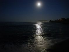 Full Moon | Full Moon Setting over Avila Beach - photo by Sandra
