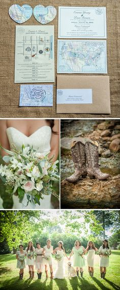 Romantic, Map-Themed Summer Tennessee Wedding | WeddingWire: The Blog, www.cedarwoodweddings.com. Photos by Ace Photography