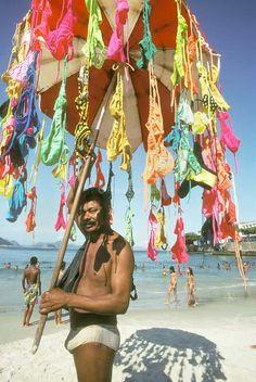 Brazil. Cocacabana beach. Bikini vendor Brazil, Fair Grounds, America, Beach, Bikinis, The Beach, Bikini, Beaches, Bikini Swimwear
