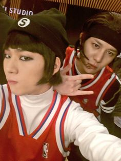 Kyung and Zico from Block B