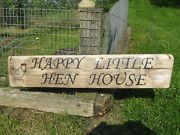cute rustic chicken sign. Would like to make one shabby chic looking : )