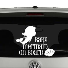 Baby Mermaid On Board Vinyl Decal Sticker. Cut from quality Oracal 651 vinyl and…