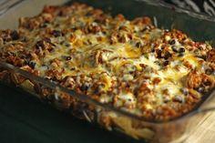 Healthier taco bake