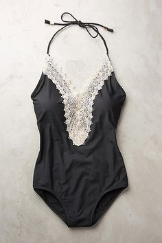 Pin for Later: The 26 Best Black Swimsuits at Every Price  Anthropologie Lace-Front One-Piece ($118)