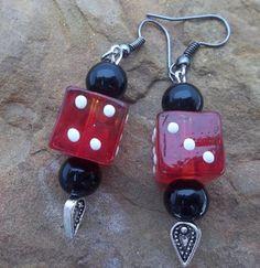Red Dice Earrings