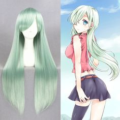 $27.98 (Buy here: https://alitems.com/g/1e8d114494ebda23ff8b16525dc3e8/?i=5&ulp=https%3A%2F%2Fwww.aliexpress.com%2Fitem%2FThe-Seven-Deadly-Sins-Nanatsu-no-Taizai-Elizabeth-Liones-Anime-Cosplay-Wig-Mint-green-High-Quality%2F32705357128.html ) The Seven Deadly Sins/Nanatsu no Taizai Elizabeth Liones Anime Cosplay Wig Mint green High Quality Long Hair Wigs+Free wig cap for just $27.98