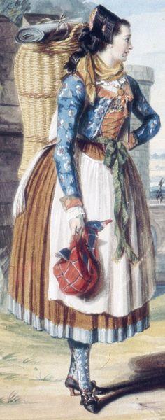 Painting by Margarethe Geiger, c. 1803.  Ettleben, Schweinfurt, Germany.