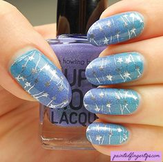 Painted Fingertips | Supermoon gradient with celebration starry stamping Boho Clothing Stores, Celebration Box, Colorful Nails, Pretty Nail Art, Gel Nail Designs, Beauty Tricks, Nail File, Beauty Nails, Summer Nails