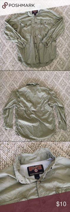 Duluth Trading Shirt Light green button up shirt for outdoor activities. Great condition, just needs some ironing.   All men's clothes are Buy 2 Get 3rd Free! Simply add to Bundle and submit an offer! Columbia Shirts Casual Button Down Shirts